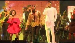 Video: THE MOMENT ADEKUNLE GOLD, SIMI, AND PRAIZ PERFORMED ONE LOVE BY LUCKY DUBE AT 100% LIVE WITH PEPSI